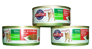 kitten food cans